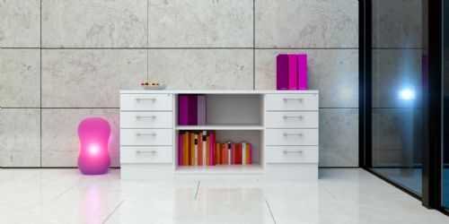 Desk High Combi Storage Unit